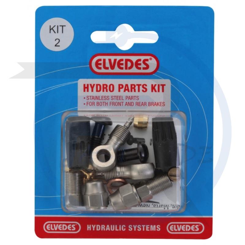 TOUS NOS ACCESSOIRES   Hydro Parts Kit 2: M8 + Banjo Stainless Steel Parts pour Front et Rear Brakes