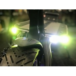 TOUS NOS ACCESSOIRES  CARBONREVO Dualtron Front LED Light Cover – V2 7075 Aluminium ( For Thunder, DT3, Spider, raptor 2, ) – 1