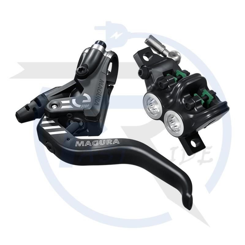 TOUS NOS ACCESSOIRES  MAGURA Magura MT5 eSTOP, levier 2 doigt en aluminium allégé, pour frein avant ou arrière, durite de 2.200